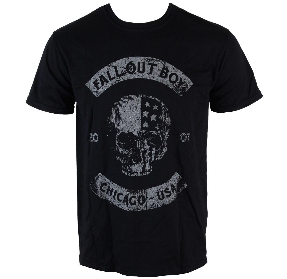 tričko pánské Fall Out Boy - Chicago Skull - LIVE NATION - PE12713TSBP