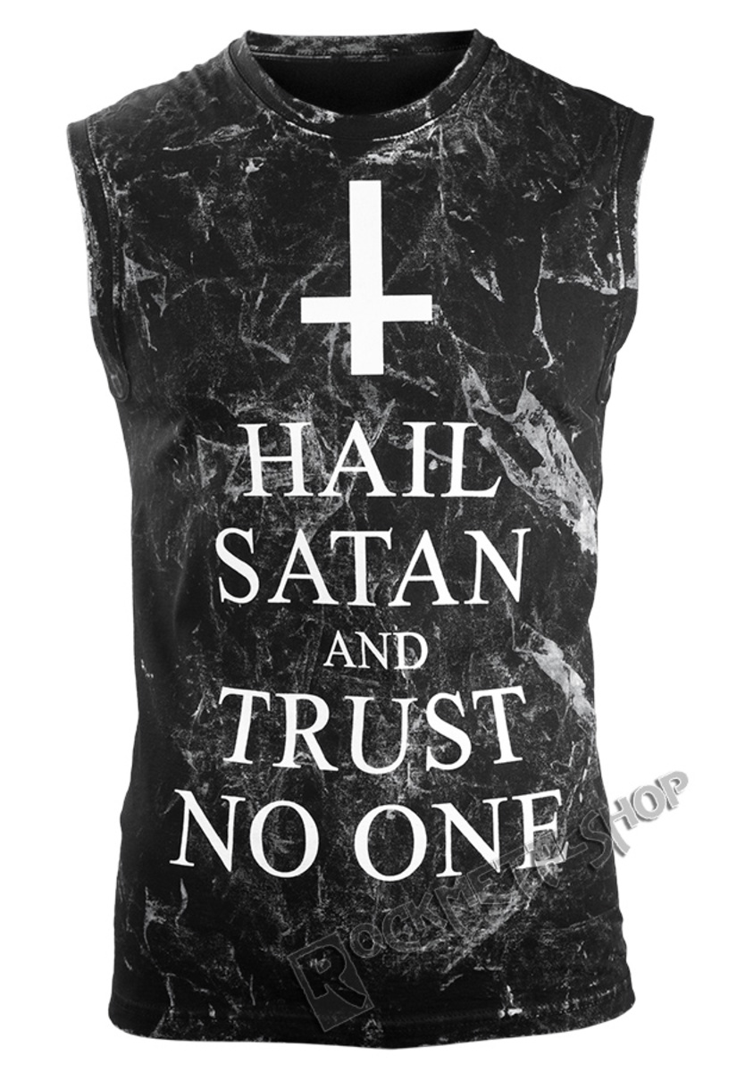 tílko pánské AMENOMEN - HAIL SATAN AND TRUST NO ONE - OMEN095BR ALLPRINT WHITE