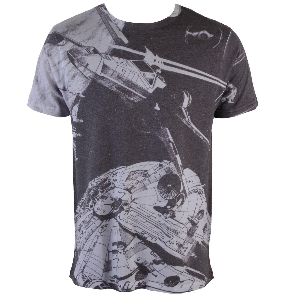 tričko pánské Star Wars - Space Battle (Dye Sub) - PLASTIC HEAD - PH8829