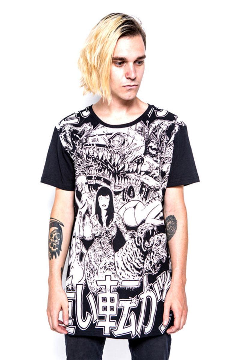 tričko pánské IRON FIST - Shinjuku Baggy Fit - Black - IFM003720