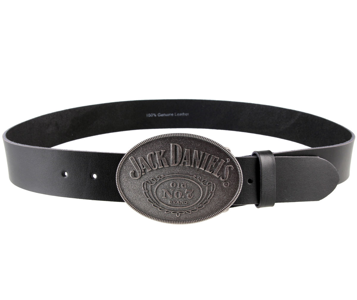 pásek Jack Daniels - With Oval Buckle - Black - BT181100JDS L