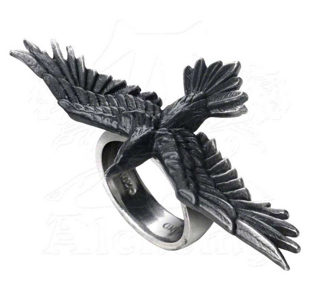 prsten ALCHEMY GOTHIC - Black Consort  Feature Rings - R205 W