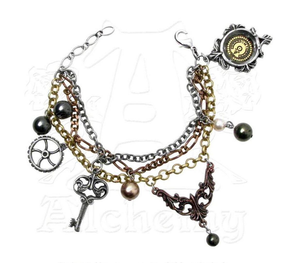 náramek ALCHEMY GOTHIC - Mrs Hudsons Cellar Keys - A81
