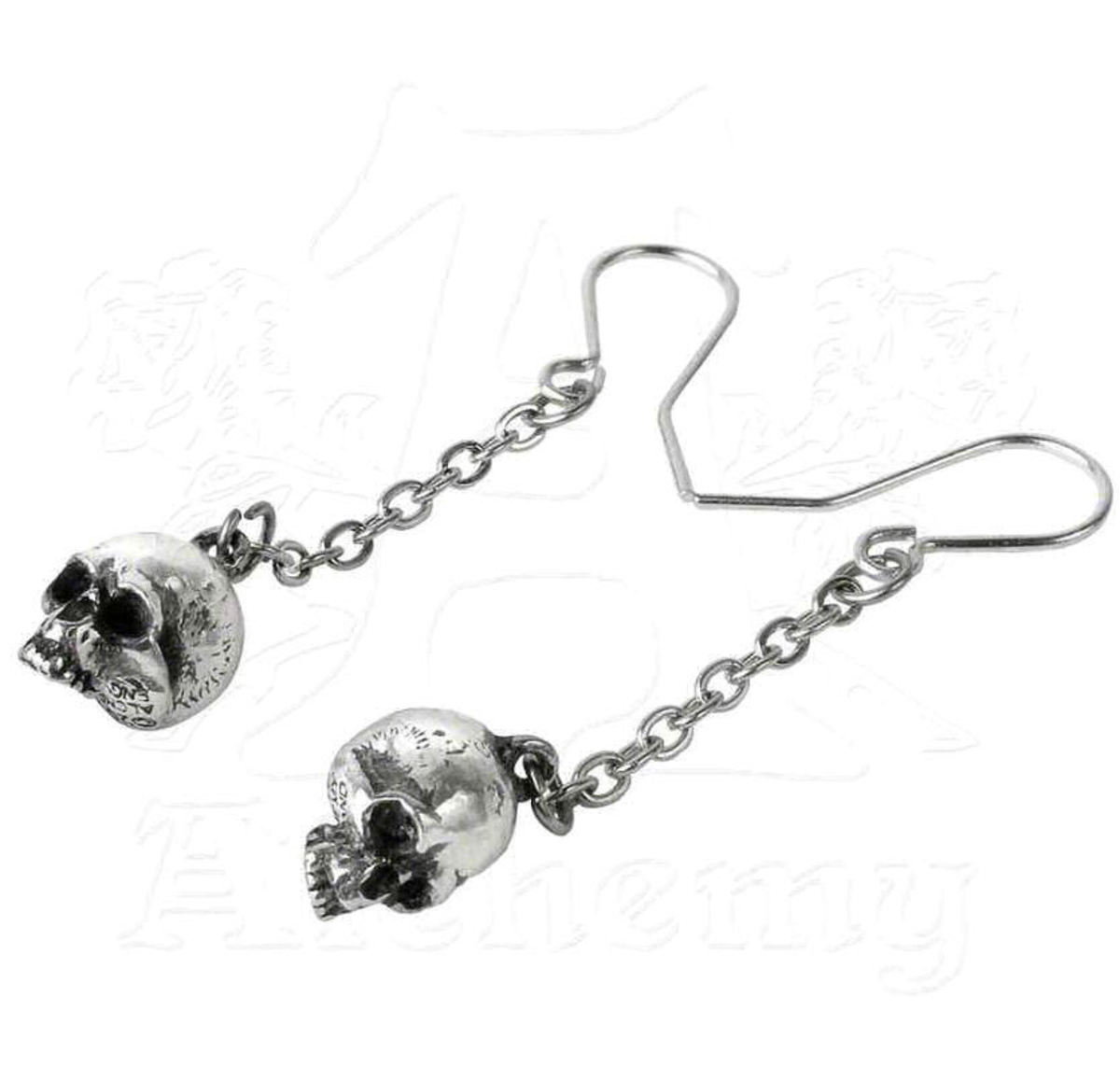 náušnice ALCHEMY GOTHIC - Deadskulls Earrings - E364
