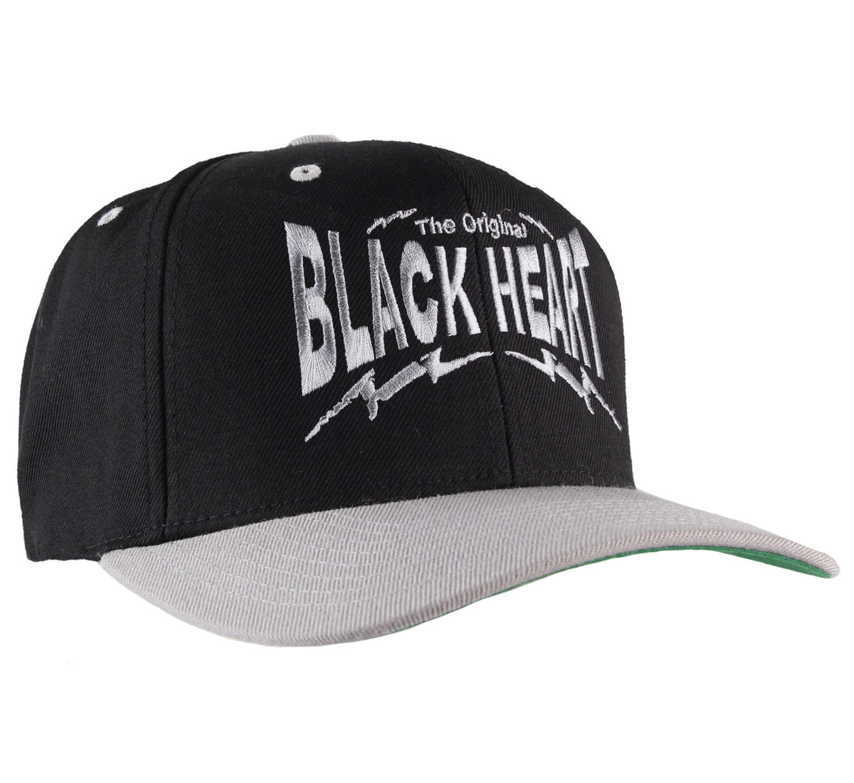 kšiltovka BLACK HEART - Snap Back - BlkGrey - BH010