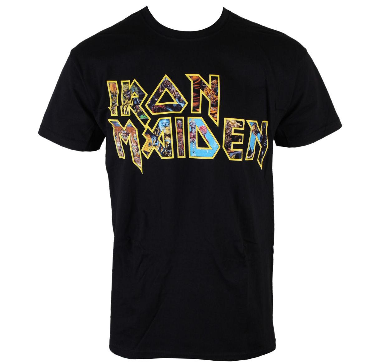 tričko pánské Iron Maiden - Eddie Logo - ROCK OFF - IMTEE45MB