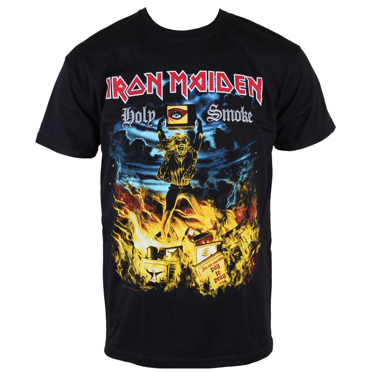 tričko pánské Iron Maiden - Holy Smoke - ROCK OFF - IMTEE46MB