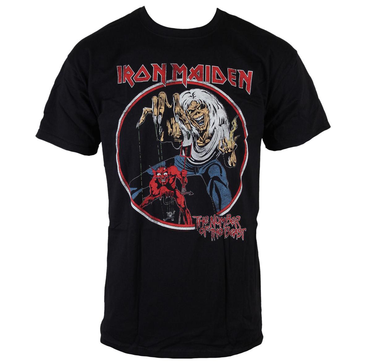 tričko pánské Iron Maiden - NOTB Vintage - Black - ROCK OFF - IMTEE42MB