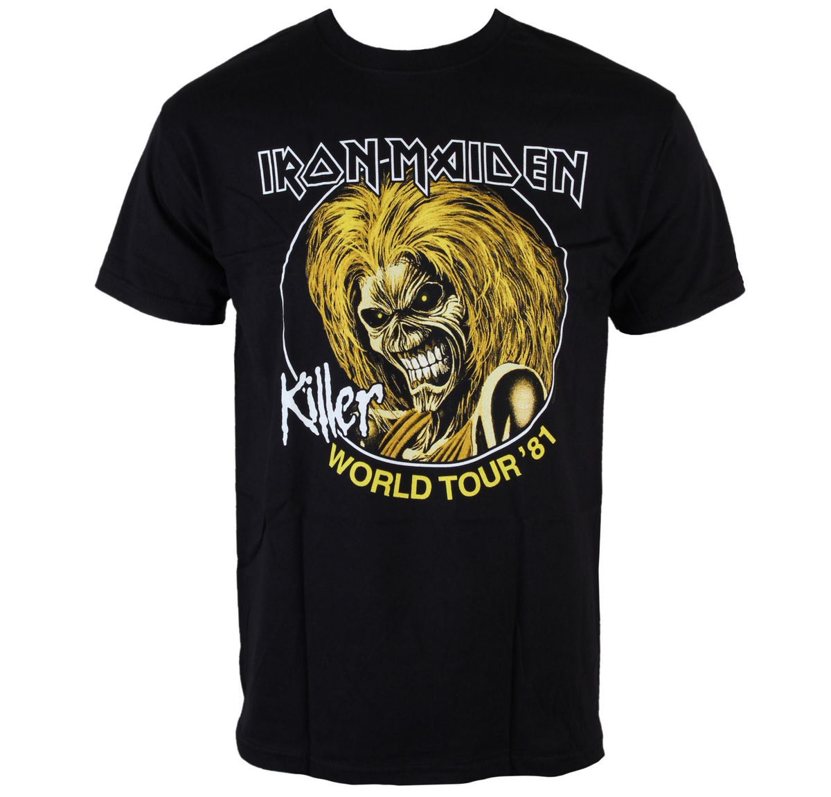 tričko pánské Iron Maiden - Killers World Tour 81 - Blk - ROCK OFF - IMTEE43MB
