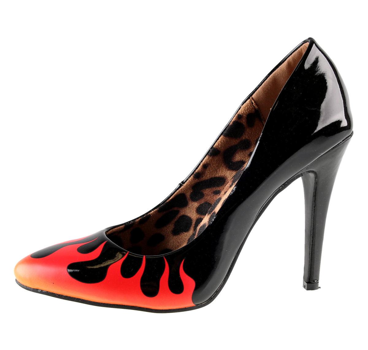 boty dámské (střevíce) IRON FIST - Fire Sign Point Heel - Black - IFW05066
