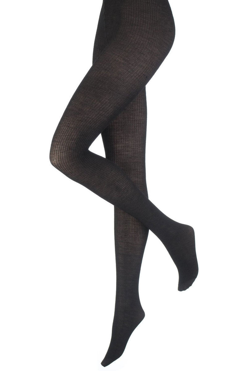 punčocháče PAMELA MANN - Opaque Ribbed - Black - PM225