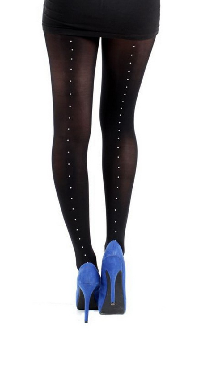 punčocháče PAMELA MANN - 80 Denier 3D Tights Black With Pyramid Seam - Black - PM215