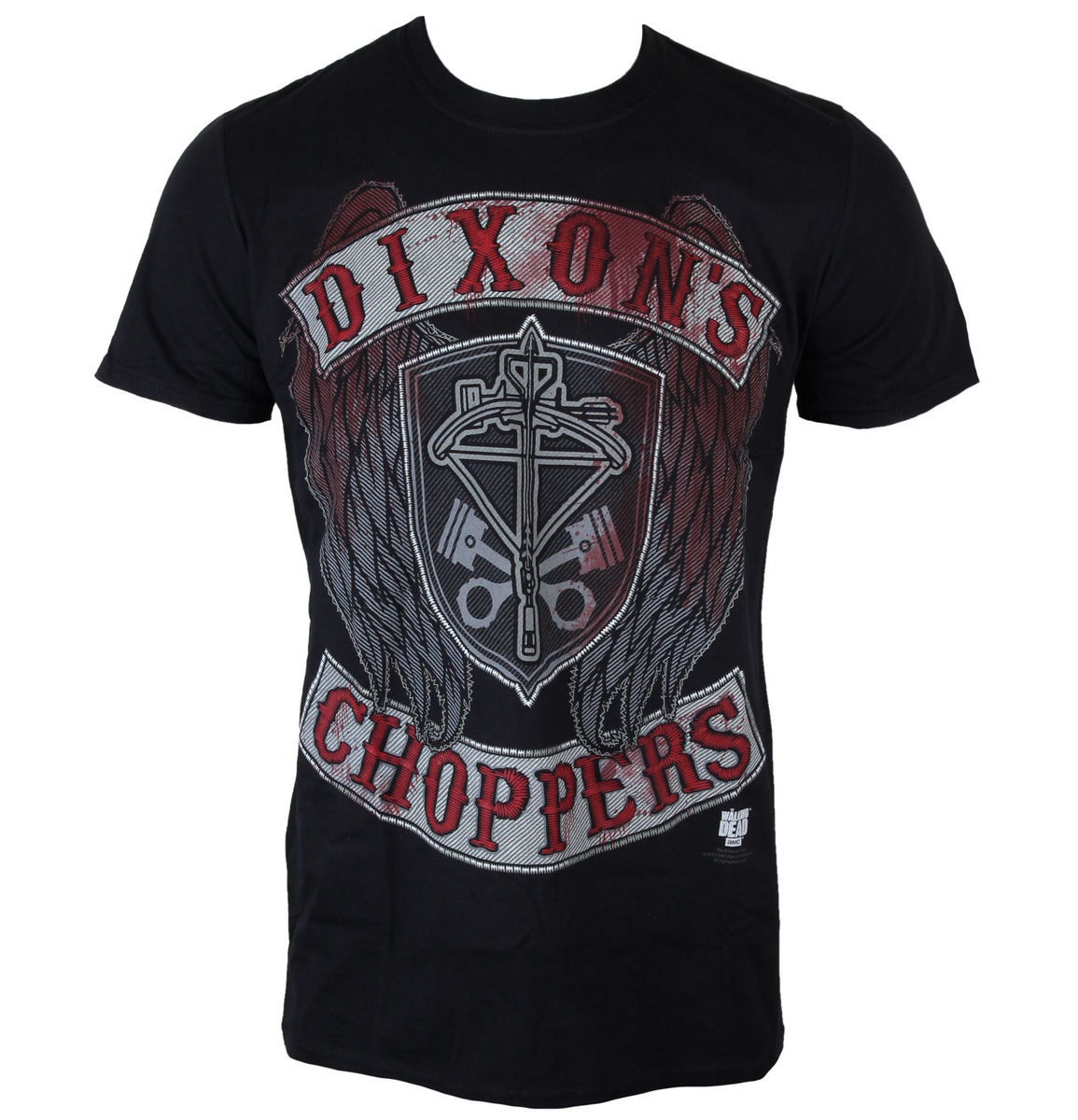 tričko pánské The Walking Dead - Dixons Choppers - Black - INDIEGO - Indie0246