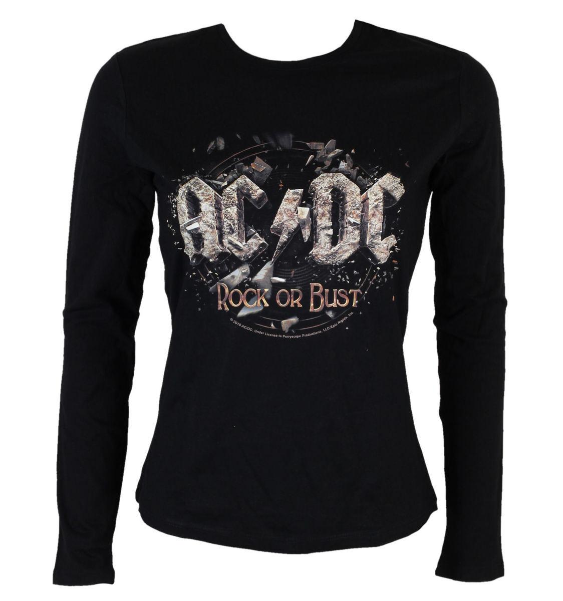 tričko dámské s dlouhým rukávem AC/DC - Rock or Bust - BLK - LOW FREQUENCY - ACGLS05003