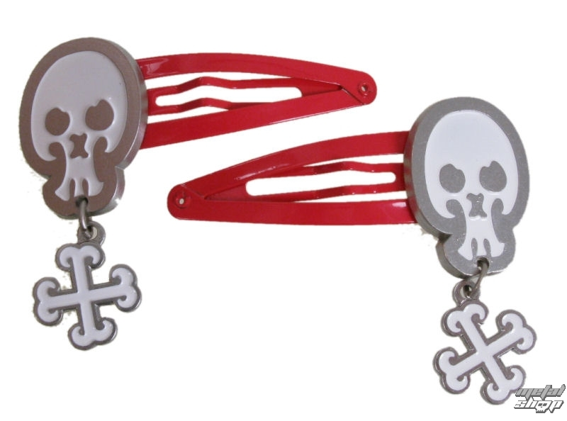 sponky EMILY THE STRANGE - Emily (E4082333) skull And Strange Bones Hairclips