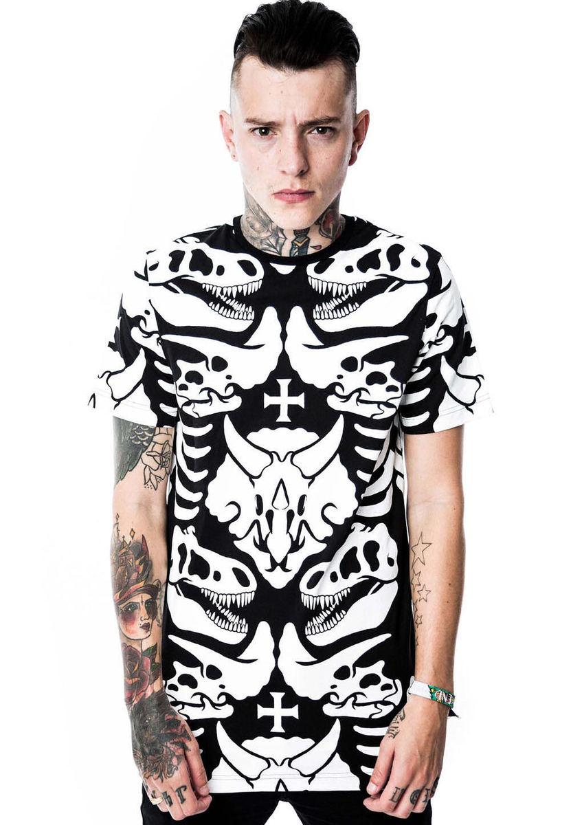 tričko (unisex) KILLSTAR - Dino - Black - KIL015