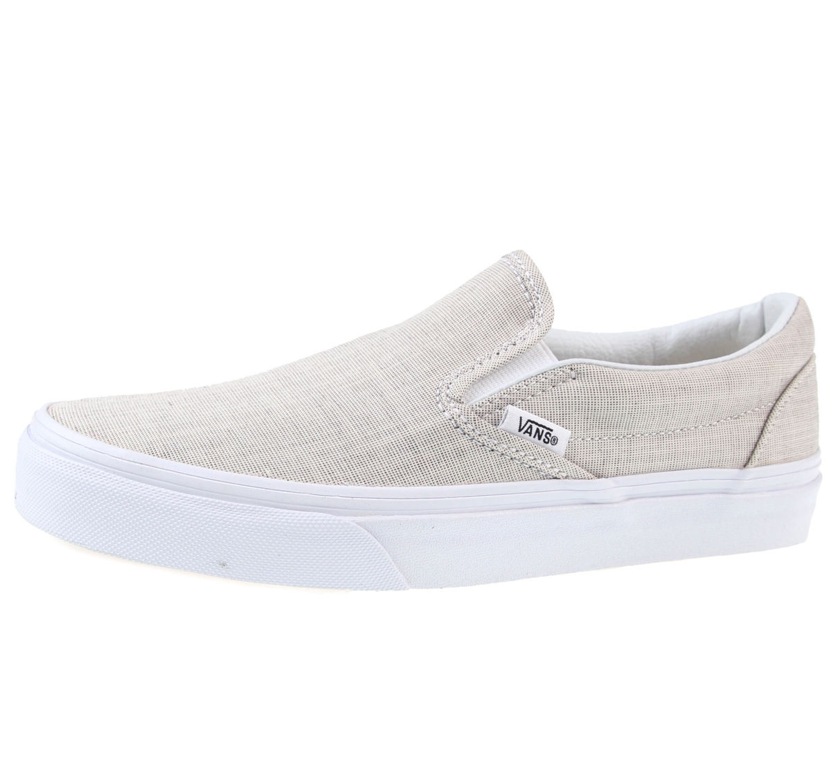 boty VANS - U Classic Slip-On - (Chambray) - Gray/True White - V3Z4IAY