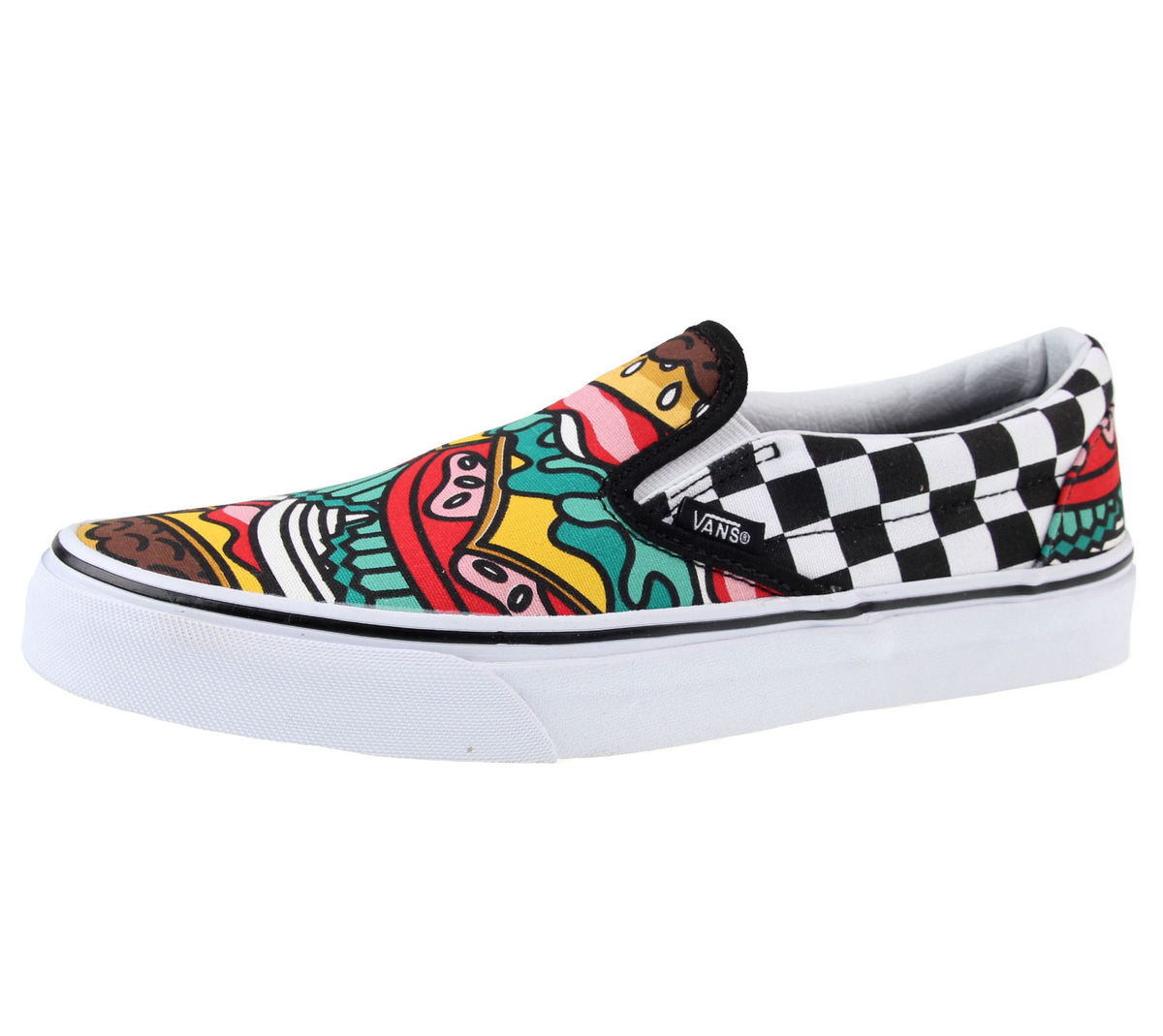 boty VANS - U Classic Slip-On - (Late Night) - Burger/Check - V3Z4IRV