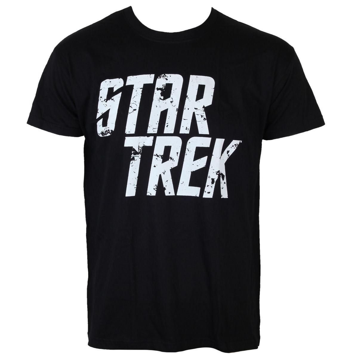 tričko pánské Star Trek - Distressed Logo - Black - HYBRIS - CBS-1-ST010-H30-12
