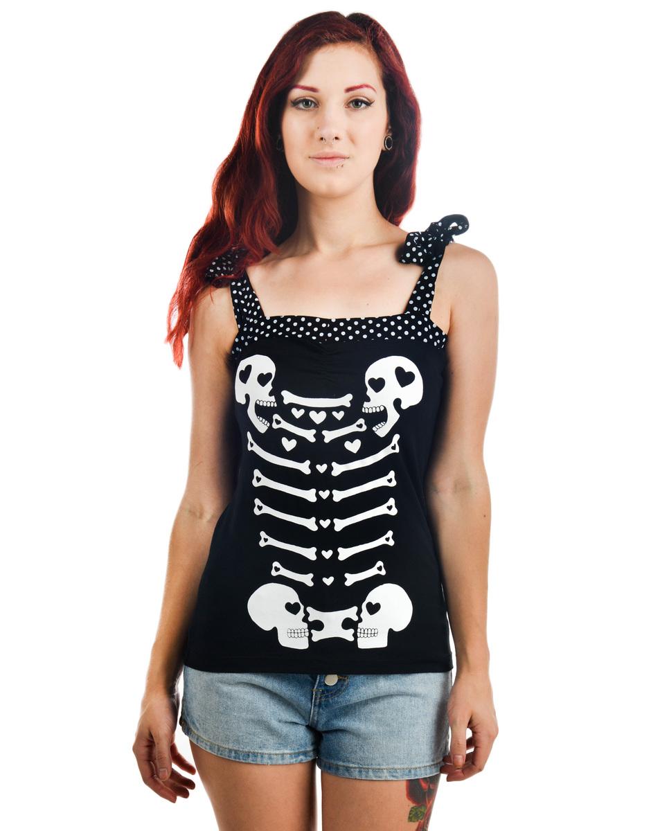 tílko dámské TOO FAST - Anabel Bow - Heart Bones - WTAT-T-HRTBN
