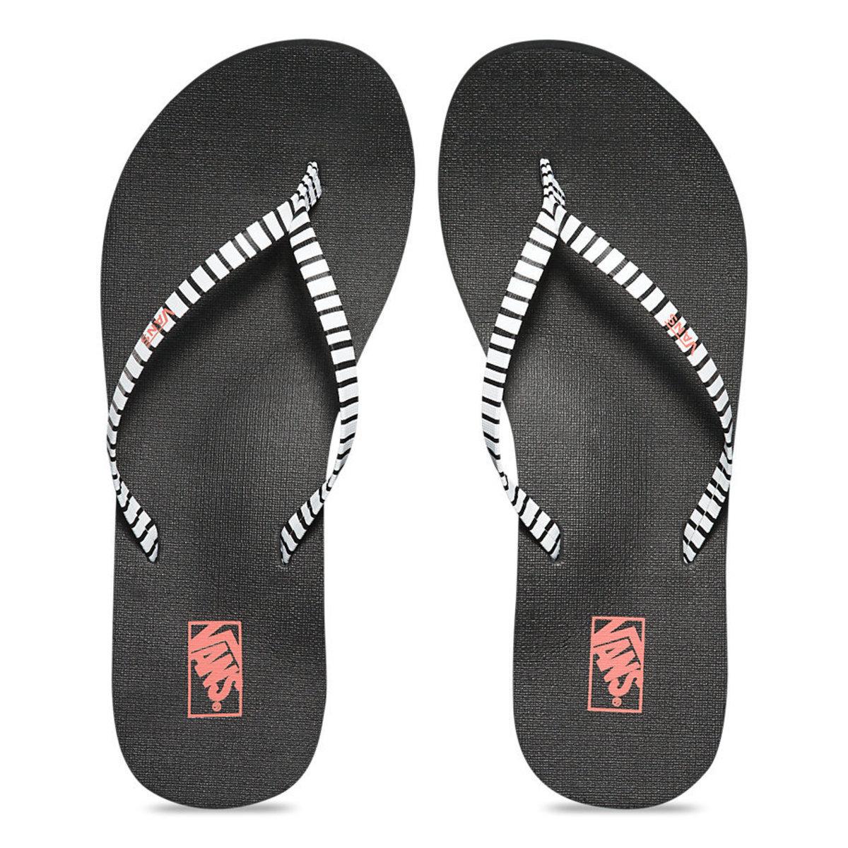 sandály dámské VANS - Malta Print - Just Stripes - Black/White - VZUCIF6
