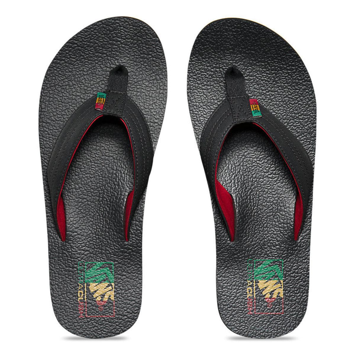 sandály pánské VANS - Nexpa Lite (Rasta) - Black/Chilli Pepper - V4MGIJ1