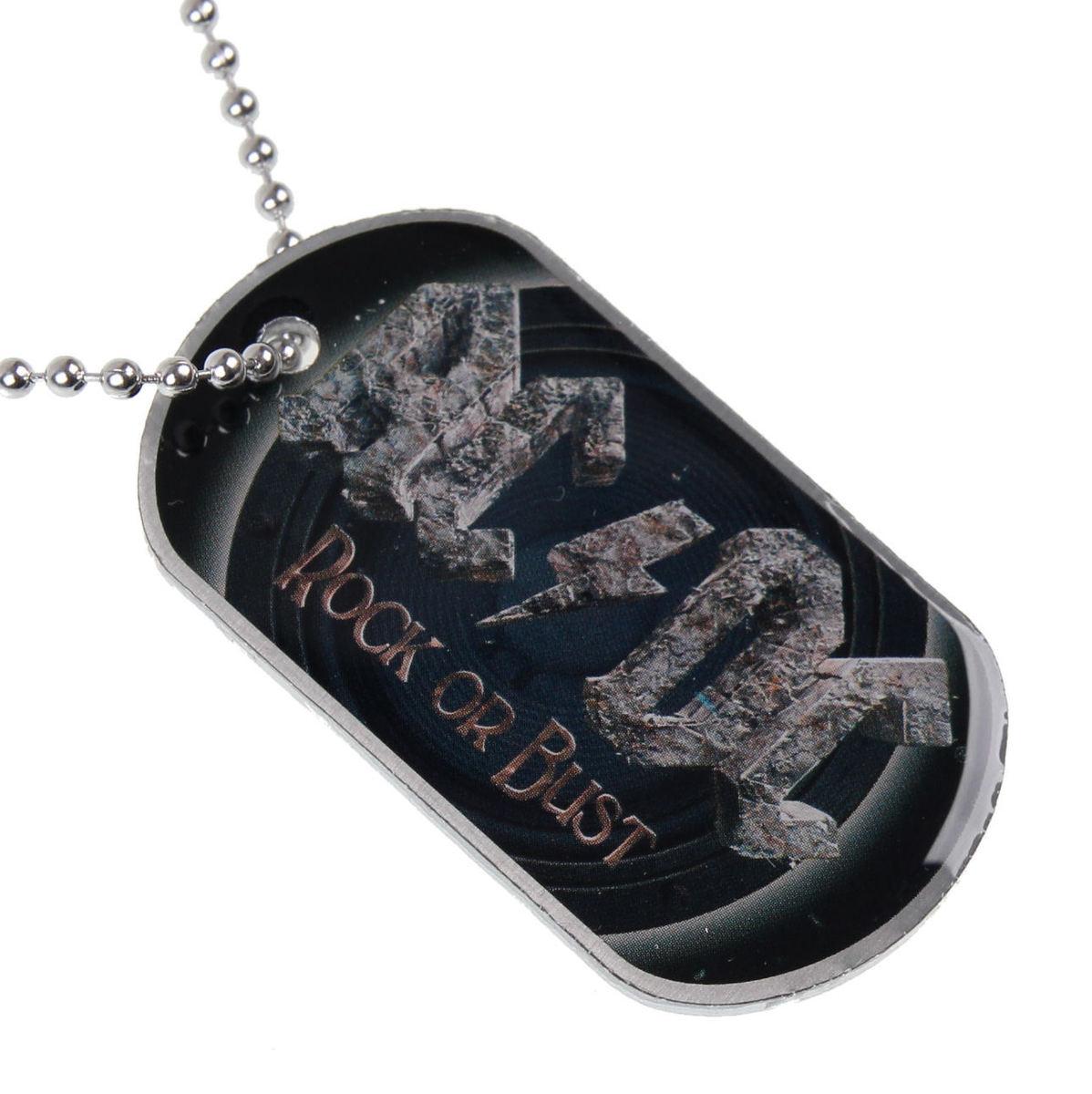 obojek (psí známka) AC/DC - Rock Or Bust - RAZAMATAZ - DT068