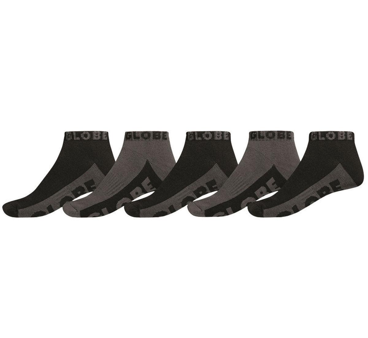 ponožky GLOBE - Ankle - Black/Grey - GB71029049