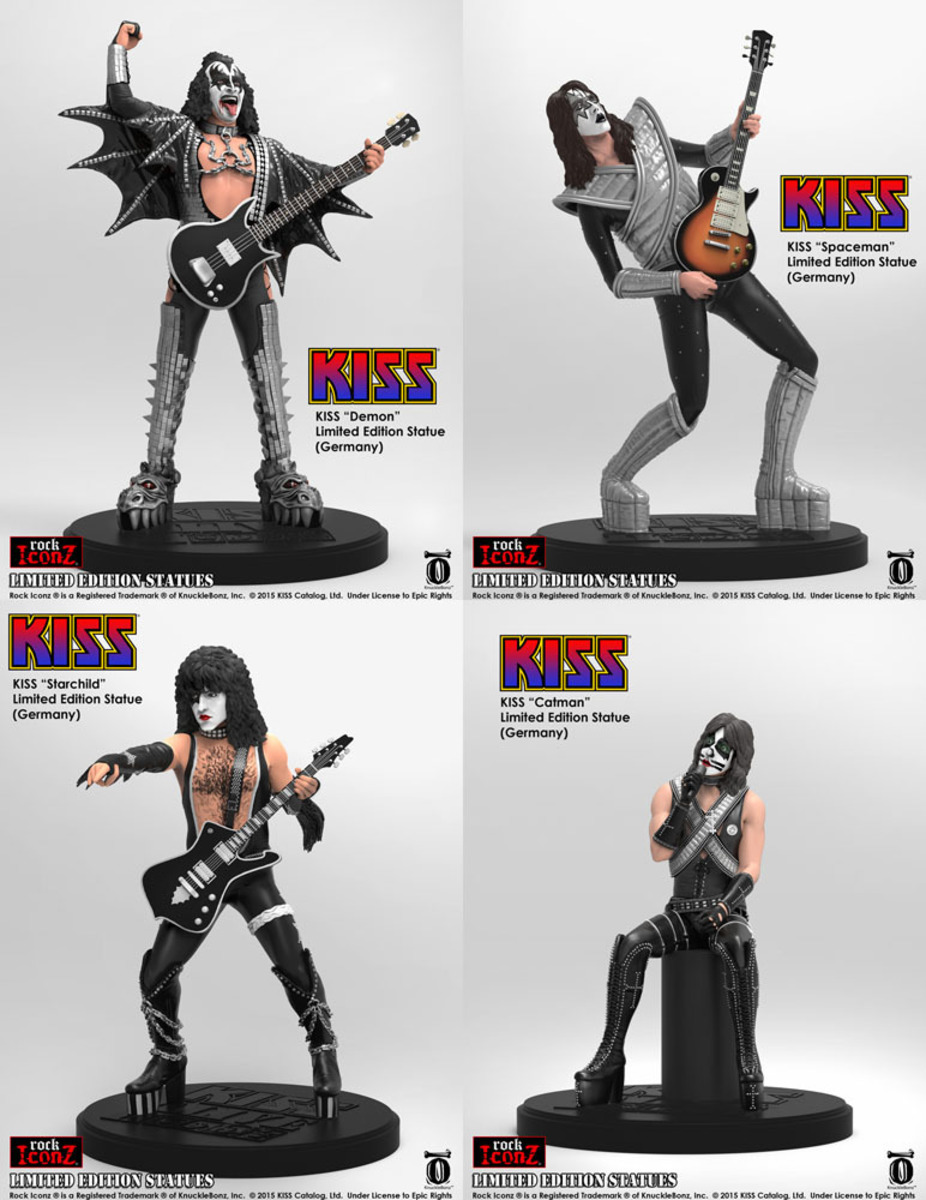 figurky (set) Kiss - Rock Icon - KBKISS100