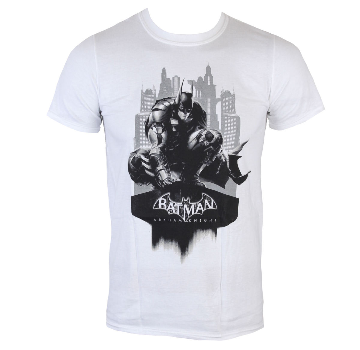 tričko pánské Batman - Arkham Knight - Skyline - White - LIVE NATION - PE11933TSWP