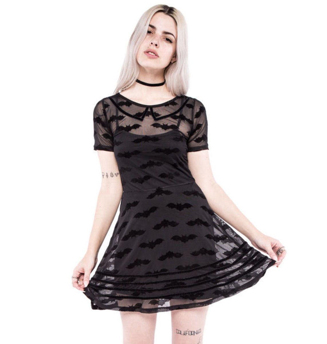 šaty dámské IRON FIST - Batty - Black - IFW004315 S