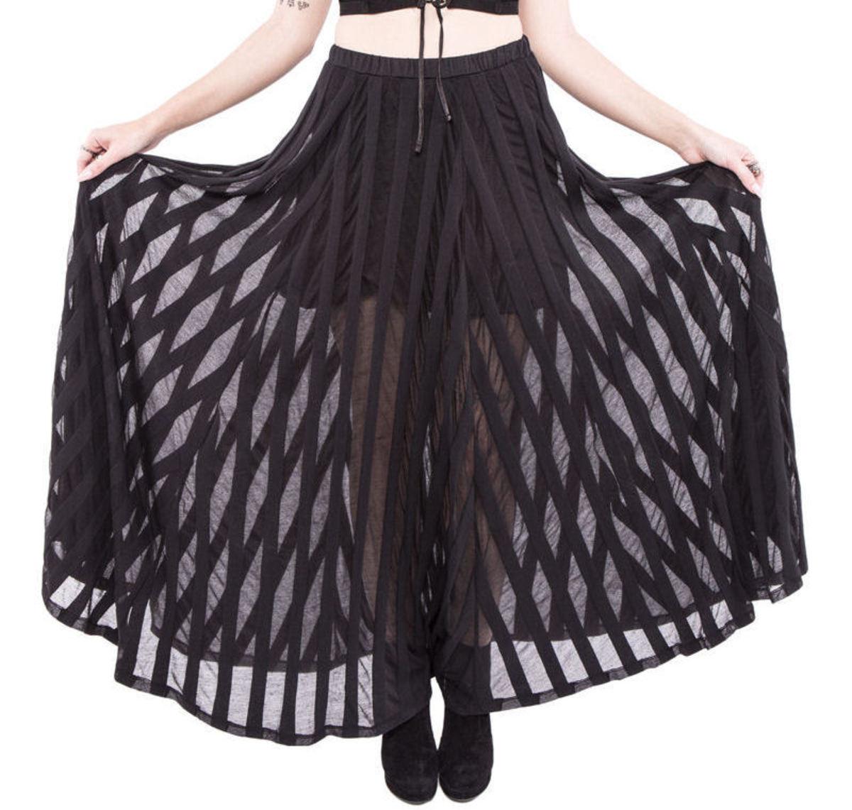 sukně dámská IRON FIST - Lydia Maxi - Black - LIC004041 M