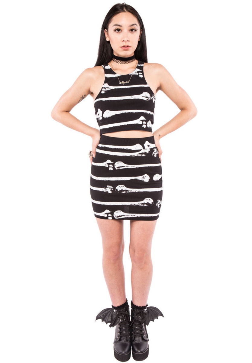 sukně dámská IRON FIST - Bone Me - Black - IFW004210 S