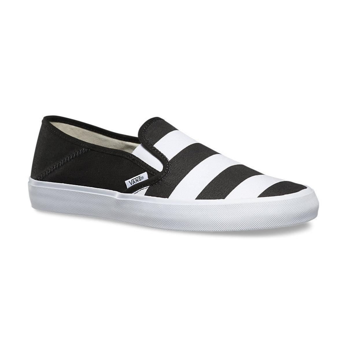 boty pánské VANS - Slip-On (Stripes) - Black - V19MIV5