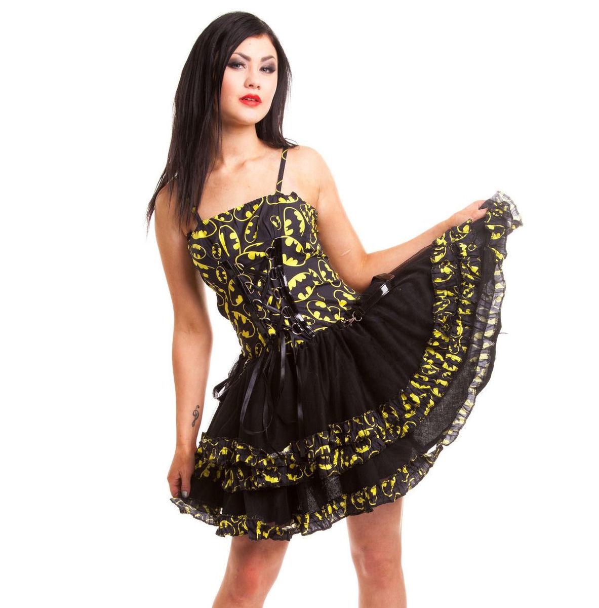 šaty dámské POIZEN INDUSTRIES - Bat Night - Batman - Black - POI094 M