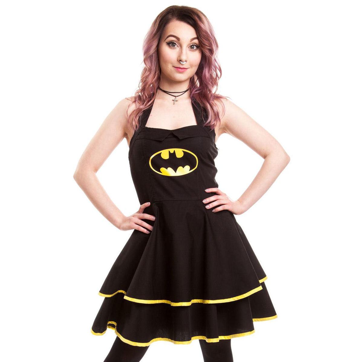šaty dámské BATMAN - Batman Cape - Black - POI093 S