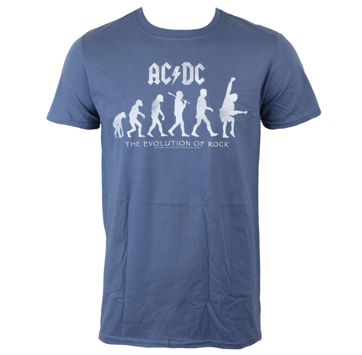 tričko pánské AC/DC - Evolution Of Rock - Heather Blue - LIVE NATION - PE13328TSCP
