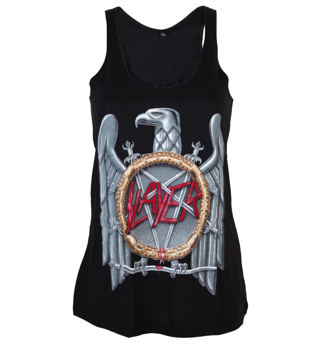 tílko dámské Slayer - Silver Eagle Crystalina - ROCK OFF - SLAYPRV01LB