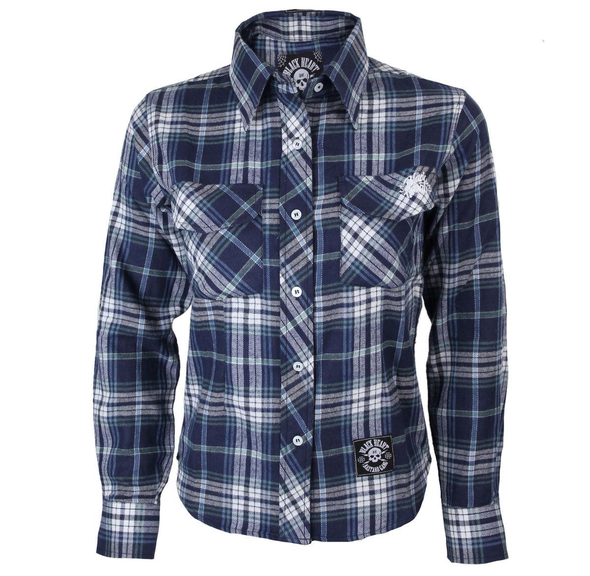 b78e3daa5f3 košile dámská BLACK HEART - Blue Bird - BLK - BH118 - metalshop.cz