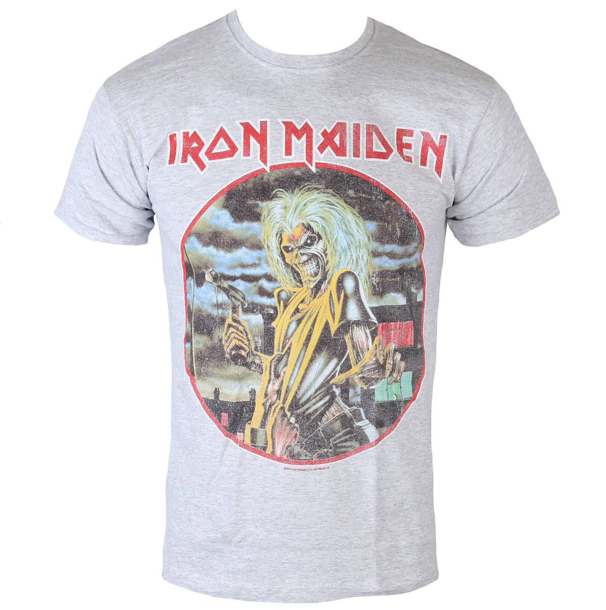 tričko pánské Iron Maiden - Killers - Cirlcle - Heather - ROCK OFF - IMTEE53MH