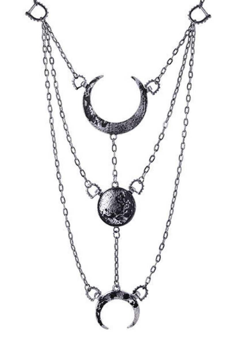 obojek RESTYLE - Moon Phases Silver - RES065