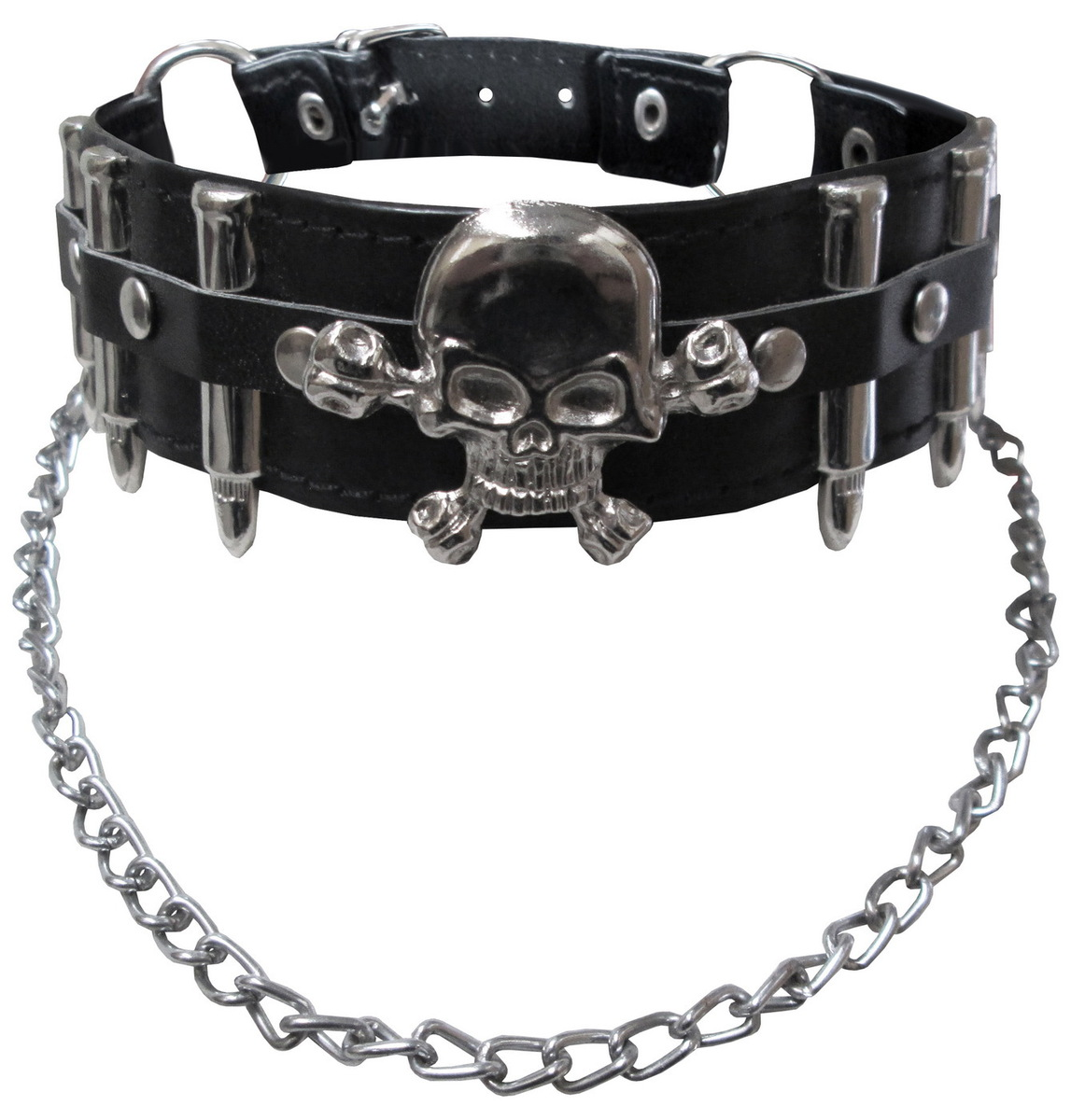 obojek (náramek) DEAD THREADS - Metal Finish Skull - AC9270
