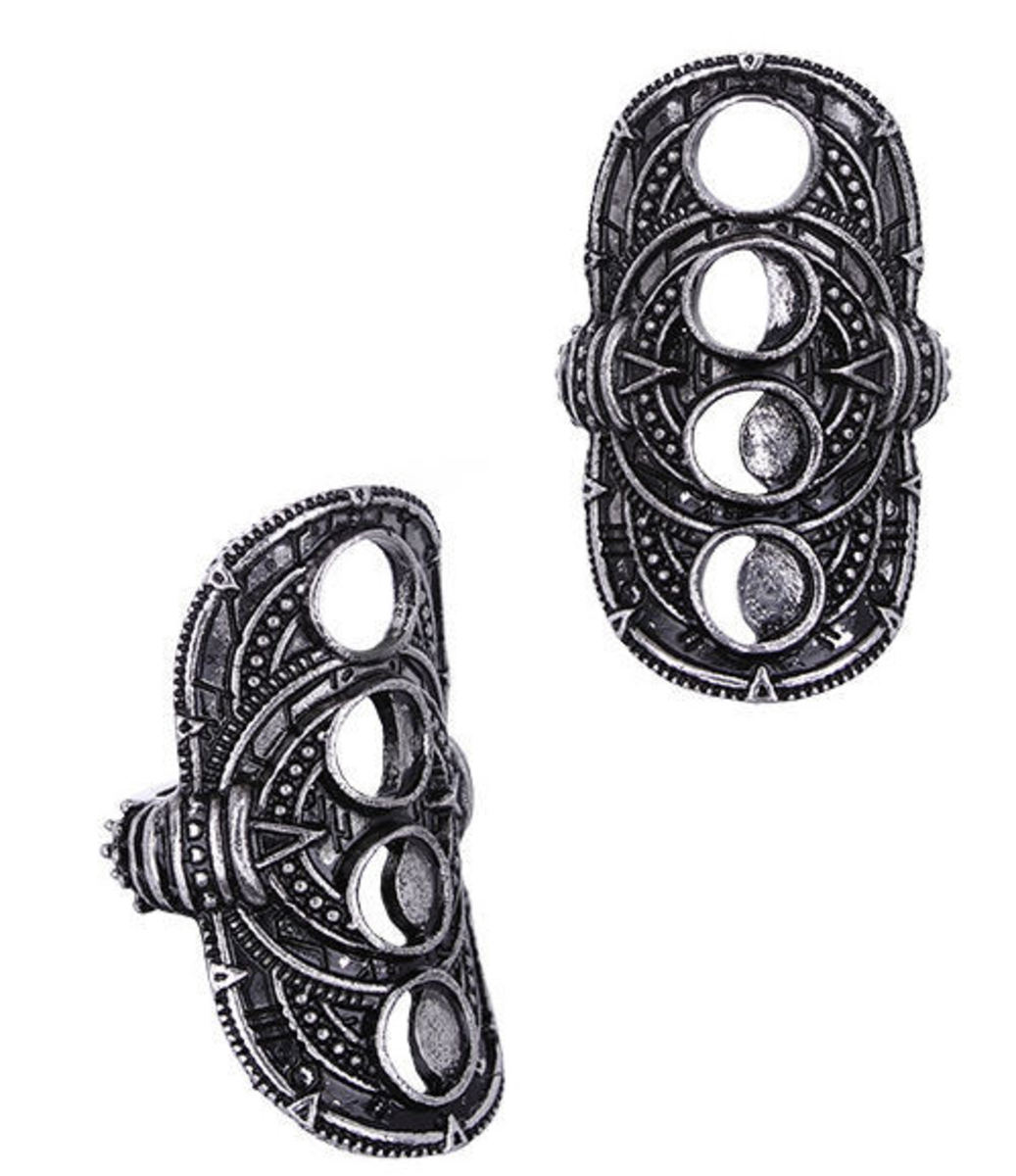 prsten RESTYLE - Hollow Moon Silver - RES032 17