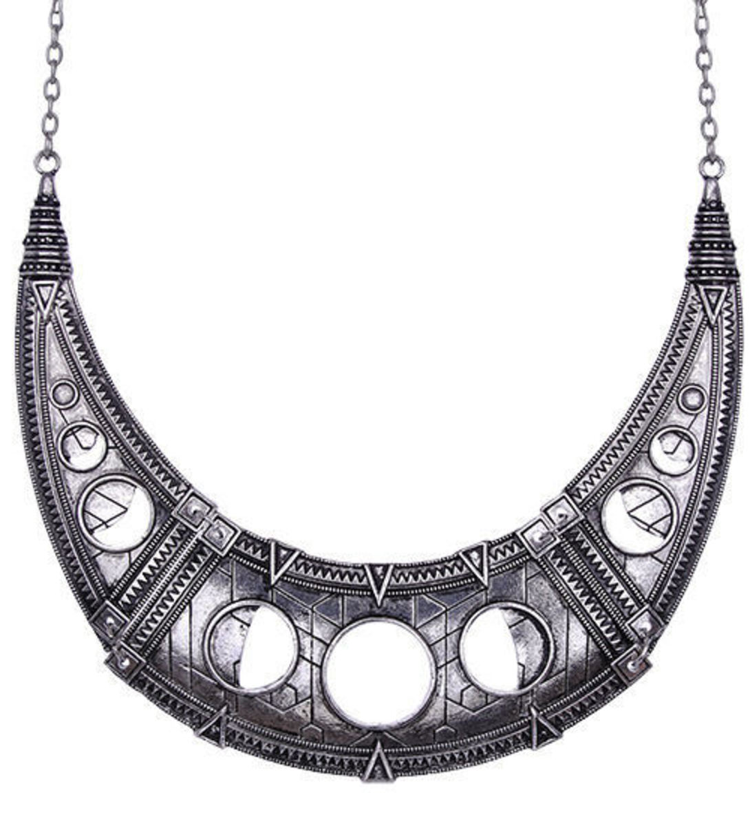 obojek RESTYLE - Hollow Moon Silver - RES010