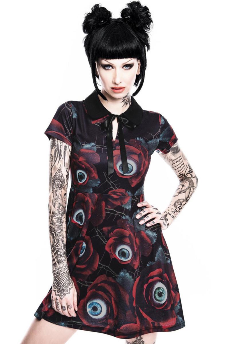 šaty dámské KILLSTAR - C U In Paradise Collar - KIL267 M