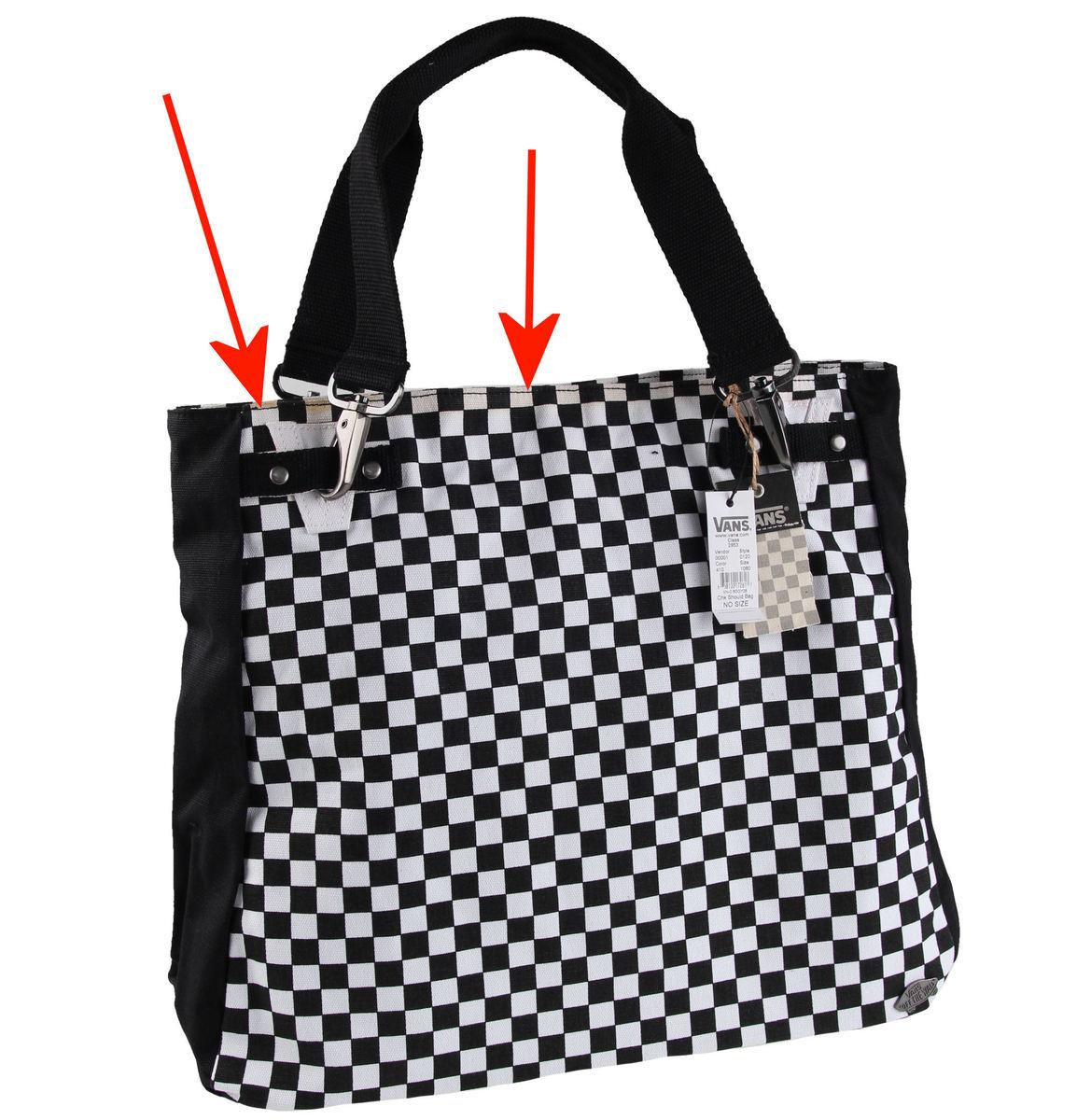 kabelka , taška VANS - Chk Should Bag - Black/White - POŠKOZENÁ - N521