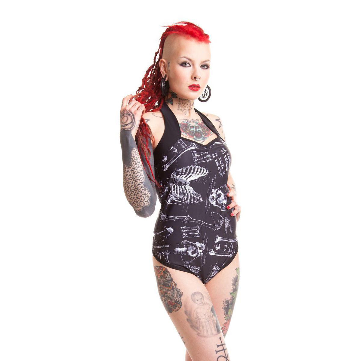 plavky dámské POIZEN INDUSTRIES - Anatomy - Black - POI103