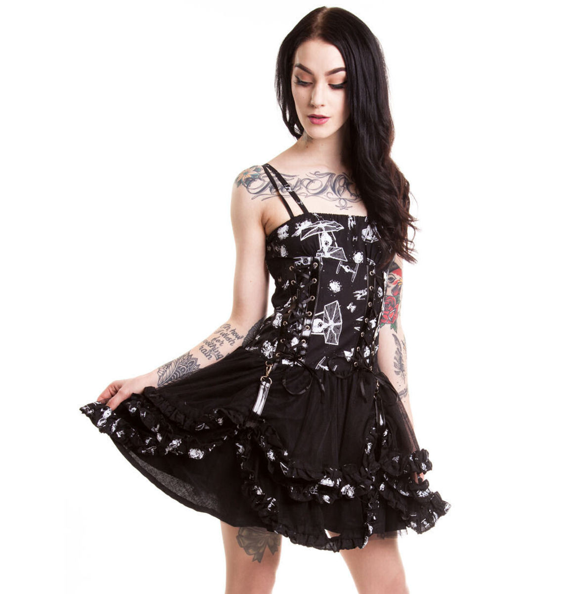 šaty dámské POIZEN INDUSTRIES - STAR WARS - Galaxy Empire - Black - POI101 M