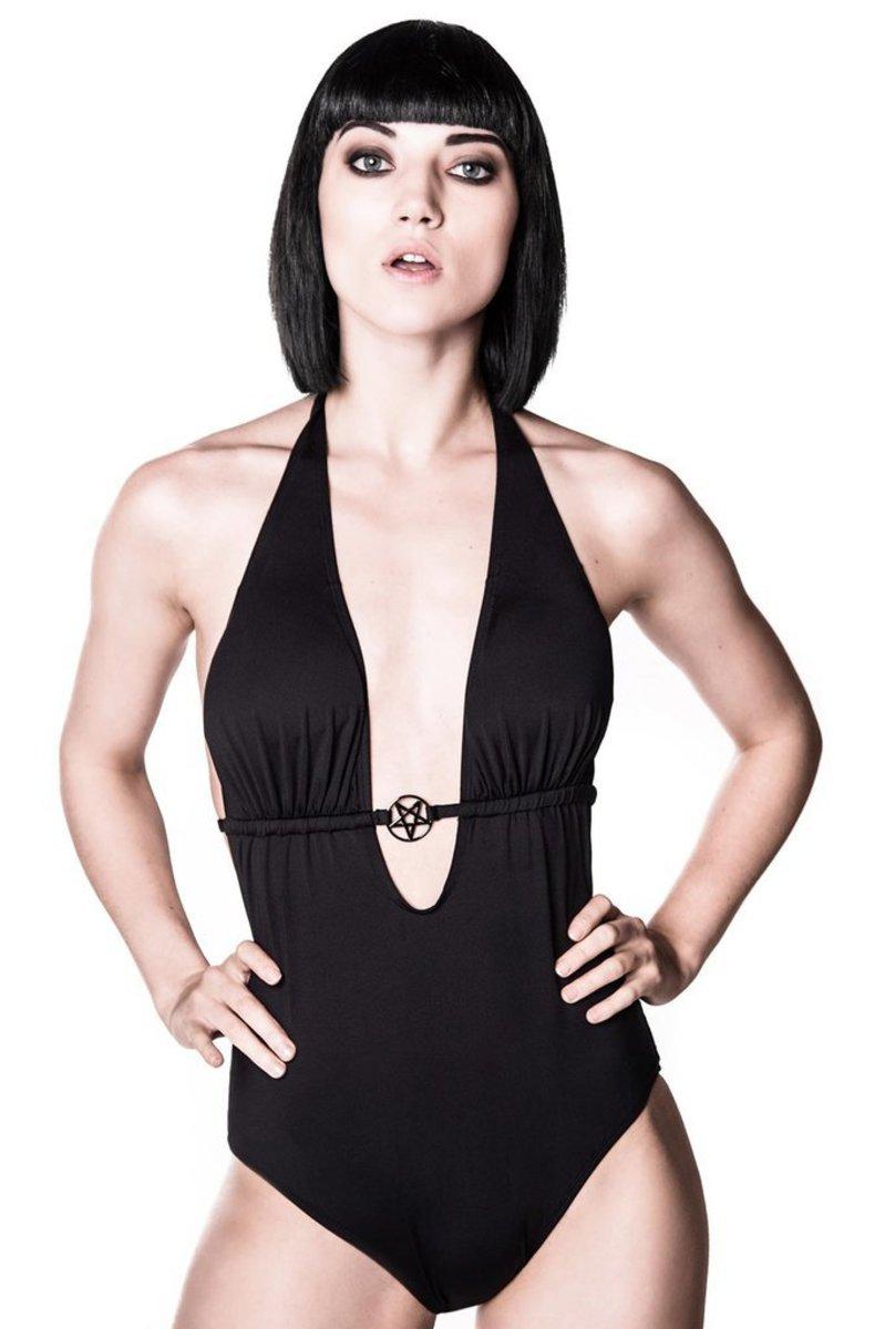 plavky dámské KILLSTAR - Ceremony Monokini - Black - KIL336