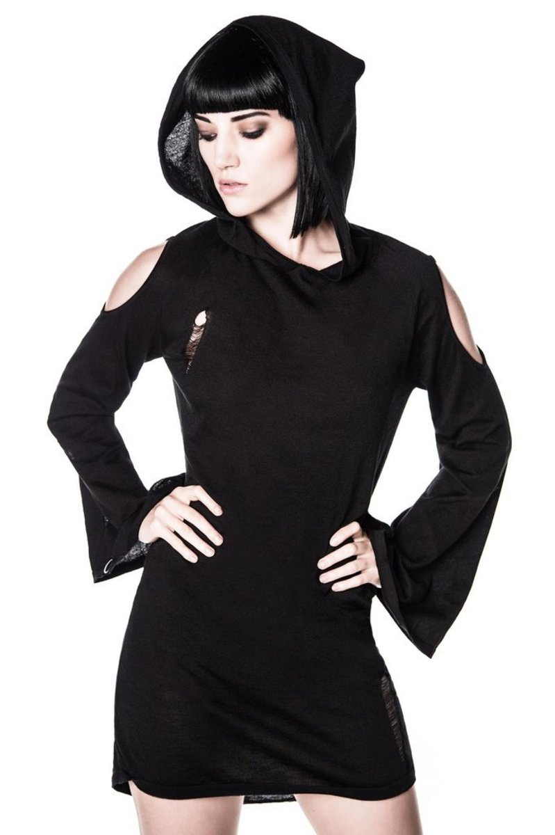 šaty dámské KILLSTAR - Dee Spare Distress Dress - Black - KIL294 M